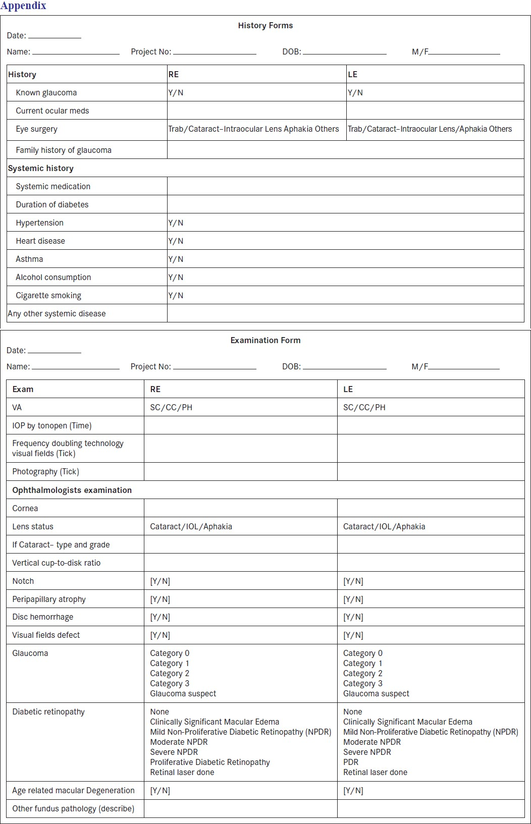 General physical exam form bing images for Ophthalmology exam template